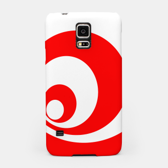 Abstract pattern - red and white. Samsung Case imagen en miniatura