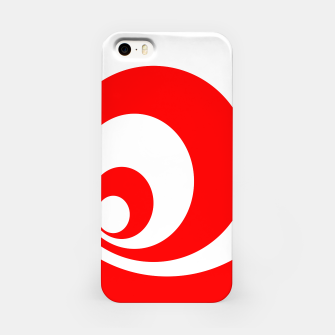 Abstract pattern - red and white. iPhone Case imagen en miniatura