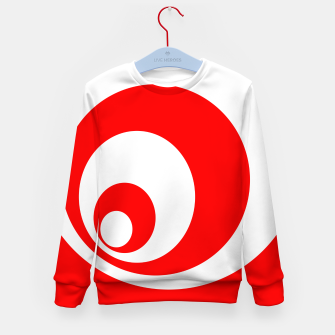 Abstract pattern - red and white. Kid's sweater imagen en miniatura