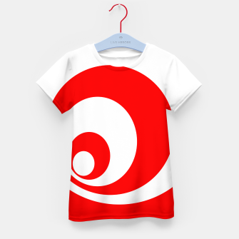 Abstract pattern - red and white. Kid's t-shirt imagen en miniatura