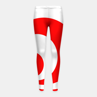 Abstract pattern - red and white. Girl's leggings imagen en miniatura