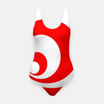 Abstract pattern - red and white. Swimsuit imagen en miniatura