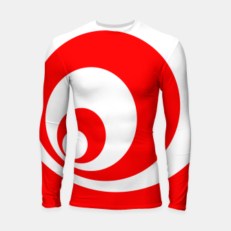 Abstract pattern - red and white. Longsleeve rashguard  imagen en miniatura