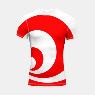 Abstract pattern - red and white. Shortsleeve rashguard imagen en miniatura