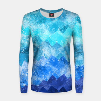 Imagen en miniatura de The blue sea waves Woman cotton sweater, Live Heroes