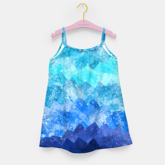 Miniaturka The blue sea waves Girl's dress, Live Heroes