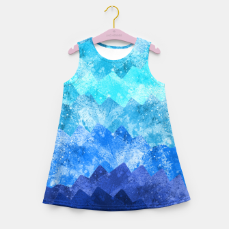 Miniatur The blue sea waves Girl's summer dress, Live Heroes