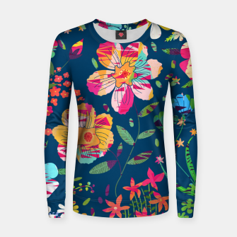 Paper Floral Woman cotton sweater imagen en miniatura