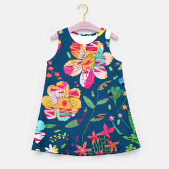 Paper Floral Girl's summer dress imagen en miniatura