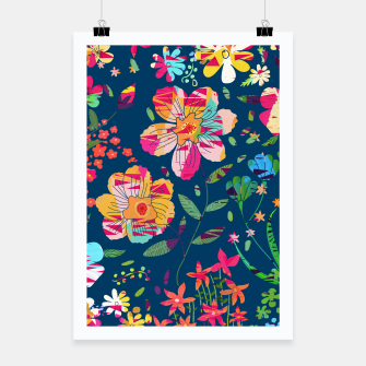 Miniatur Paper Floral Poster, Live Heroes