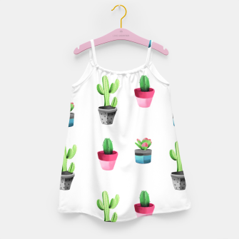 Miniaturka Watercolor Cactus  Girl's dress, Live Heroes