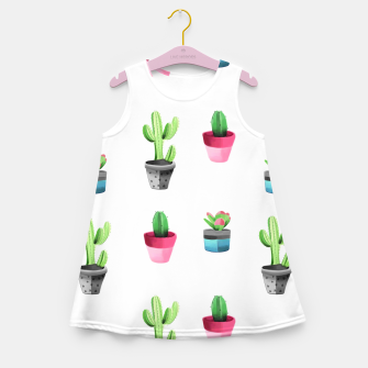 Miniatur Watercolor Cactus  Girl's summer dress, Live Heroes