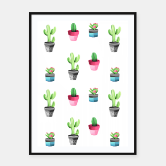 Miniaturka Watercolor Cactus  Framed poster, Live Heroes