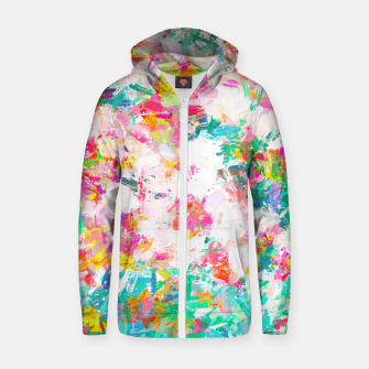 Thumbnail image of Painted Joy Cotton zip up hoodie, Live Heroes