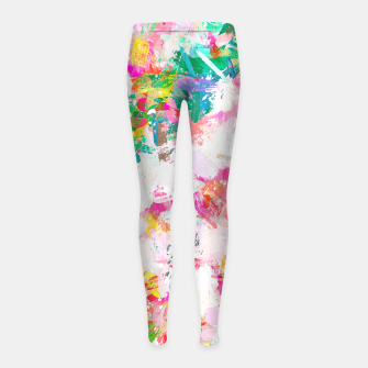 Thumbnail image of Painted Joy Girl's leggings, Live Heroes