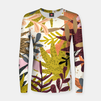 Imagen en miniatura de Earthy Forest-v2 Woman cotton sweater, Live Heroes
