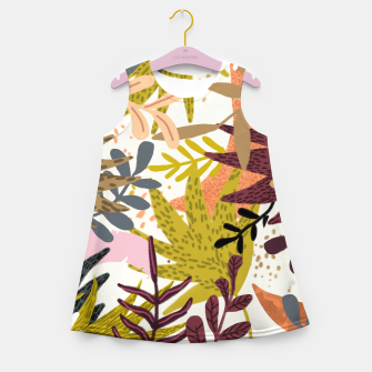 Miniatur Earthy Forest-v2 Girl's summer dress, Live Heroes