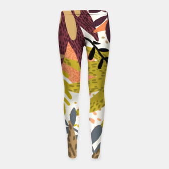 Thumbnail image of Earthy Forest-v2 Girl's leggings, Live Heroes
