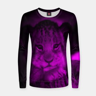 Imagen en miniatura de Lion Cub Woman cotton sweater, Live Heroes