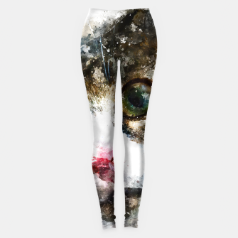 Imagen en miniatura de gxp cat for real watercolor mix - katze for real wasserfarbe mix Leggings, Live Heroes