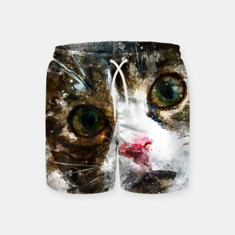 Miniatur gxp cat for real watercolor mix - katze for real wasserfarbe mix Badeshorts, Live Heroes