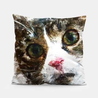 Miniatur gxp cat for real watercolor mix - katze for real wasserfarbe mix Kissen, Live Heroes