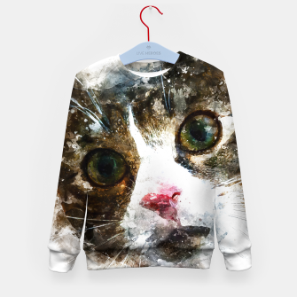 Miniatur gxp cat for real watercolor mix - katze for real wasserfarbe mix Kindersweatshirt, Live Heroes