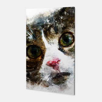Miniaturka gxp cat for real watercolor mix - katze for real wasserfarbe mix Canvas, Live Heroes