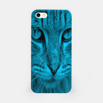 Blue Cat iPhone Case imagen en miniatura
