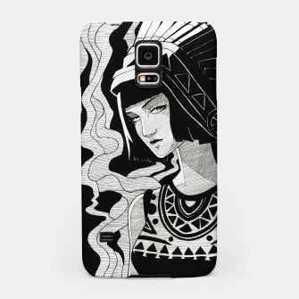 Miniature de image de Indian Smoke black and white Samsung Case, Live Heroes