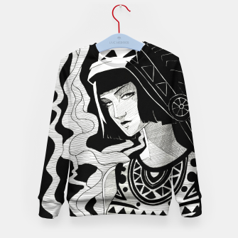 Miniatur Indian Smoke black and white Kid's sweater, Live Heroes