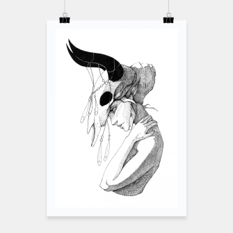 Thumbnail image of Woman & Skull Poster, Live Heroes