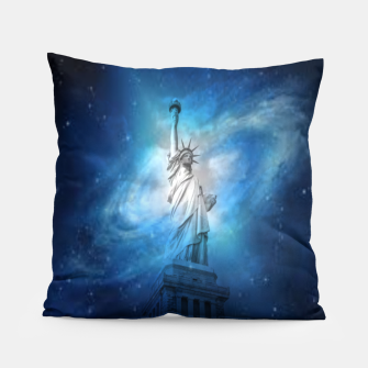 Miniatur Statue Of Liberty Pillow, Live Heroes