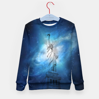 Miniatur Statue Of Liberty Kid's sweater, Live Heroes