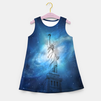 Miniatur Statue Of Liberty Girl's summer dress, Live Heroes