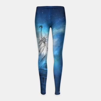 Miniatur Statue Of Liberty Girl's leggings, Live Heroes