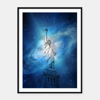 Thumbnail image of Statue Of Liberty Framed poster, Live Heroes