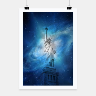 Thumbnail image of Statue Of Liberty Poster, Live Heroes