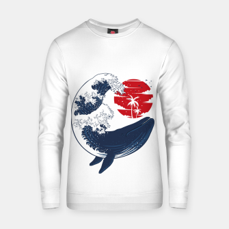 Thumbnail image of The whale wave Sudadera de algodón, Live Heroes