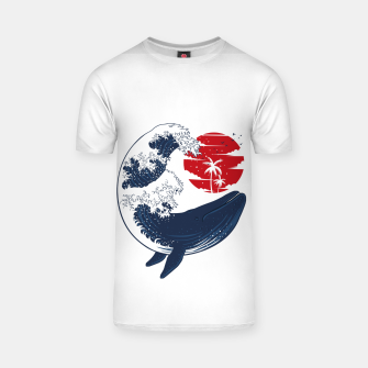Thumbnail image of The whale wave Camiseta, Live Heroes