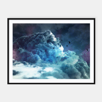 Thumbnail image of At the edge of space Framed poster, Live Heroes