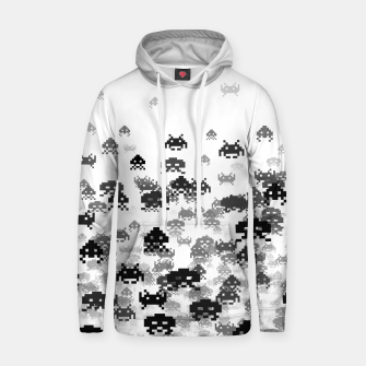 Thumbnail image of Invaded III B&W Cotton hoodie, Live Heroes
