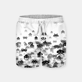 Thumbnail image of Invaded III B&W Swim Shorts, Live Heroes