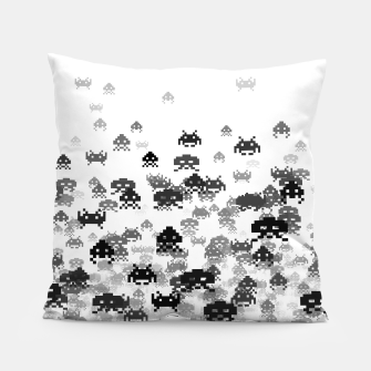 Thumbnail image of Invaded III B&W Pillow, Live Heroes