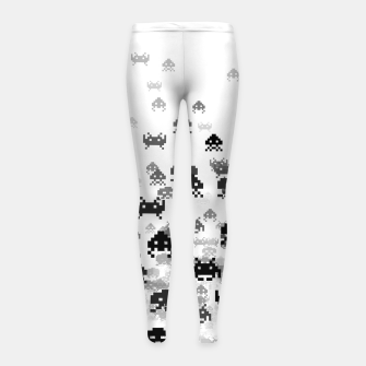 Invaded III B&W Girl's leggings thumbnail image