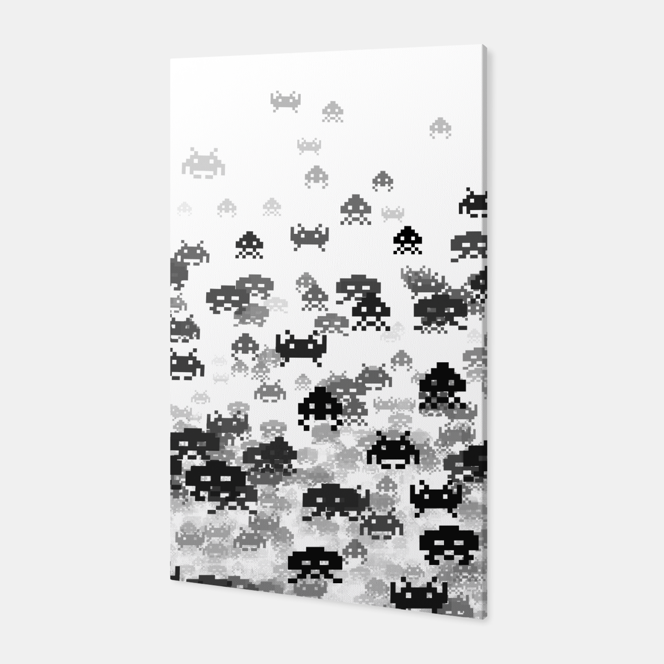 Image of Invaded III B&W Canvas - Live Heroes