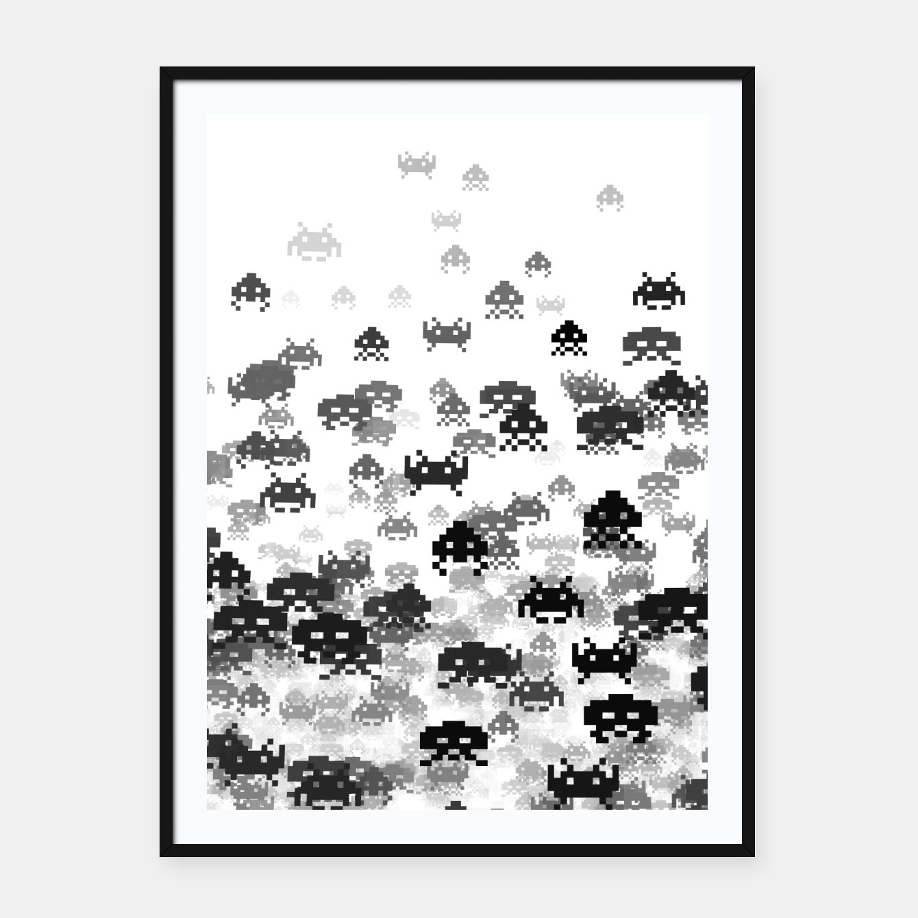 Image of Invaded III B&W Framed poster - Live Heroes