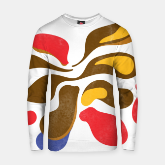 Thumbnail image of Abstract flower paint Cotton sweater, Live Heroes