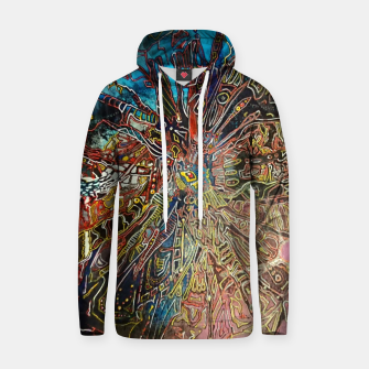 Thumbnail image of Fractal Traveler Cotton hoodie, Live Heroes