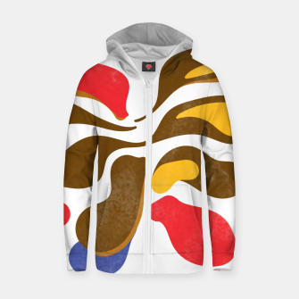 Thumbnail image of Abstract flower paint Cotton zip up hoodie, Live Heroes